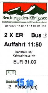 Return Ticket to the Kehlsteinhaus