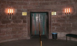 The entrance to the brass elevator up to the Kehlsteinhaus