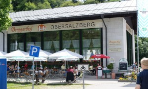 The Berggasthof Obersalzberg at the Hintereck, opposite the bus terminus